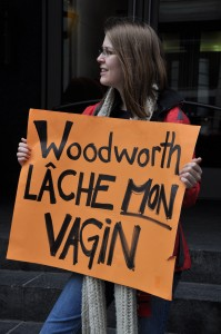 Protest against Conservative MP Stephen Woodworth's M-312 in 2012